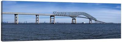 Bridge across a river, Francis Scott Key Bridge, Patapsco River, Baltimore, Maryland, USA Canvas Print #PIM8449