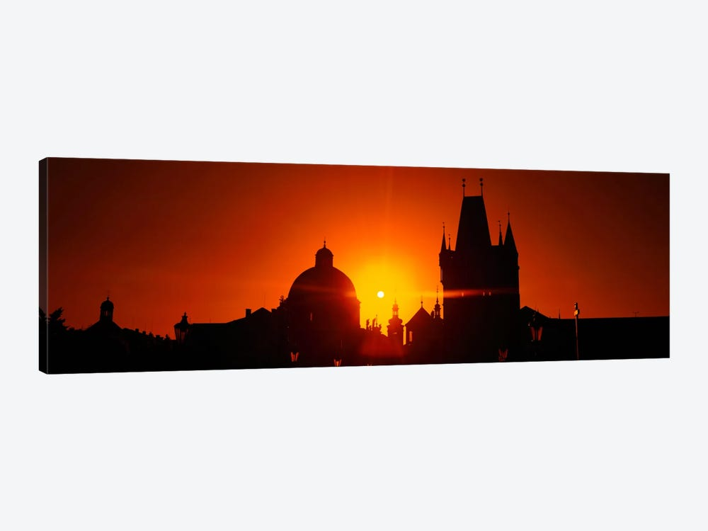 Sunrise Tower Charles Bridge Czech Republic by Panoramic Images 1-piece Art Print