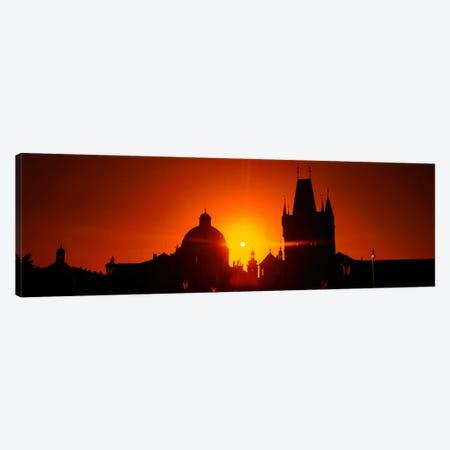 Sunrise Tower Charles Bridge Czech Republic Canvas Print #PIM844} by Panoramic Images Canvas Art Print