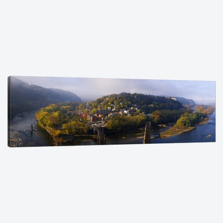 Aerial View Of Harpers Ferry, Jefferson County, West Virginia, USA Canvas Print #PIM8452} by Panoramic Images Canvas Artwork