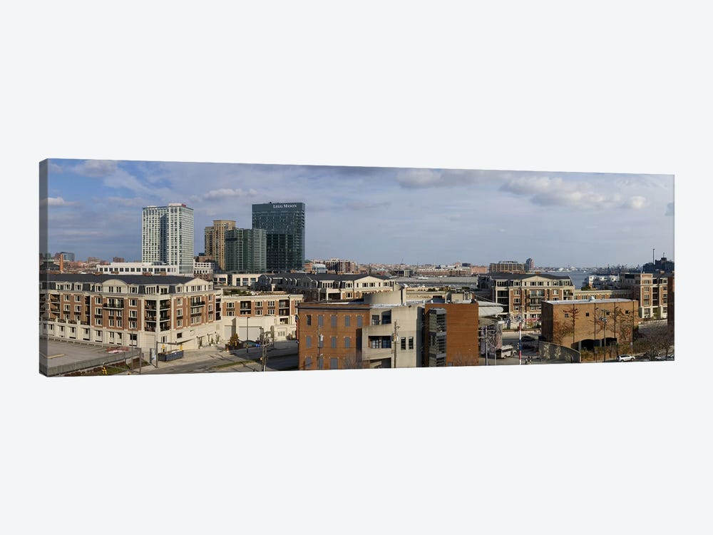Buildings near a harbor, Inner Harbor, Baltimore, Maryland, USA 2009 #2 by Panoramic Images 1-piece Canvas Wall Art