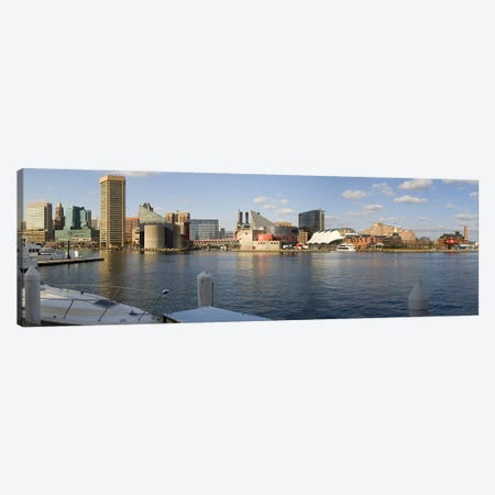 Boats moored at a harbor, Inner Harbor, Baltimore, Maryland, USA 2009 #2 Canvas Print #PIM8457} by Panoramic Images Art Print