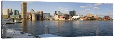 Boats moored at a harbor, Inner Harbor, Baltimore, Maryland, USA 2009 #2 Canvas Art Print