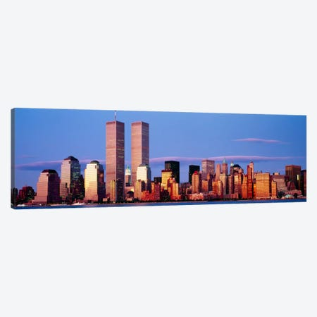 Skyscrapers in a city, Manhattan, New York City, New York State, USA Canvas Print #PIM845} by Panoramic Images Canvas Art Print