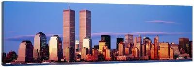 Skyscrapers in a city, Manhattan, New York City, New York State, USA Canvas Print #PIM845