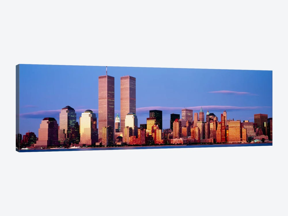 Skyscrapers in a city, Manhattan, New York City, New York State, USA by Panoramic Images 1-piece Canvas Artwork