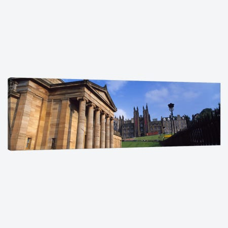 Art museum with Free Church Of Scotland in the background, National Gallery Of Scotland, The Mound, Edinburgh, Scotland Canvas Print #PIM8460} by Panoramic Images Art Print