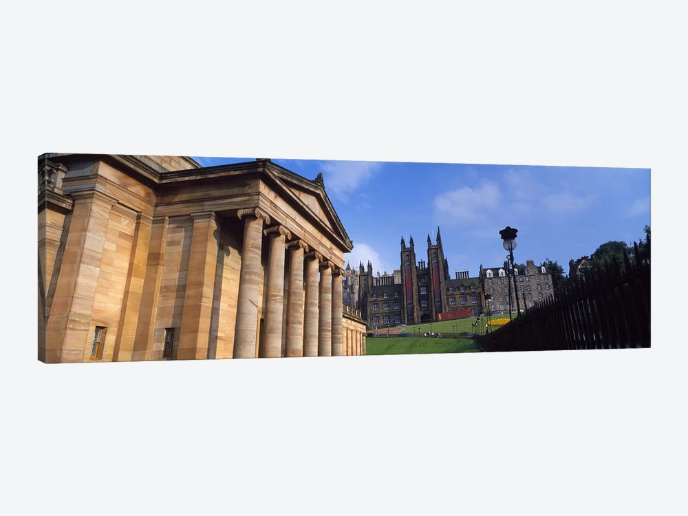 Art museum with Free Church Of Scotland in the background, National Gallery Of Scotland, The Mound, Edinburgh, Scotland by Panoramic Images 1-piece Canvas Artwork