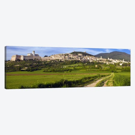 Panoramic View Of Assisi, Perugia, Umbria, Italy Canvas Print #PIM8464} by Panoramic Images Canvas Artwork