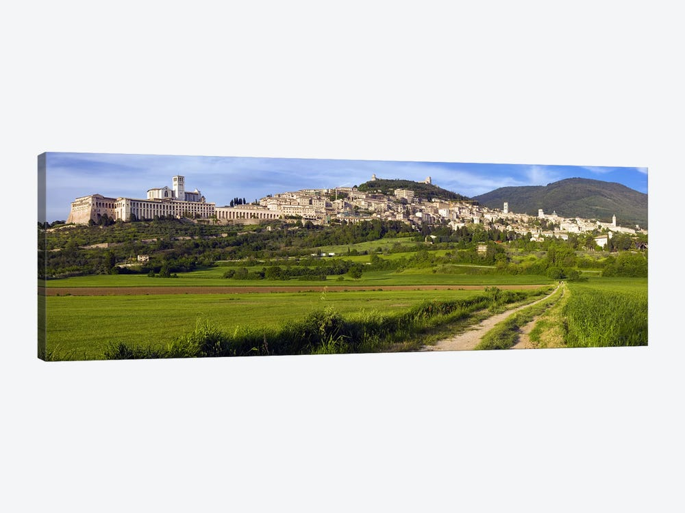 Panoramic View Of Assisi, Perugia, Umbria, Italy by Panoramic Images 1-piece Canvas Artwork