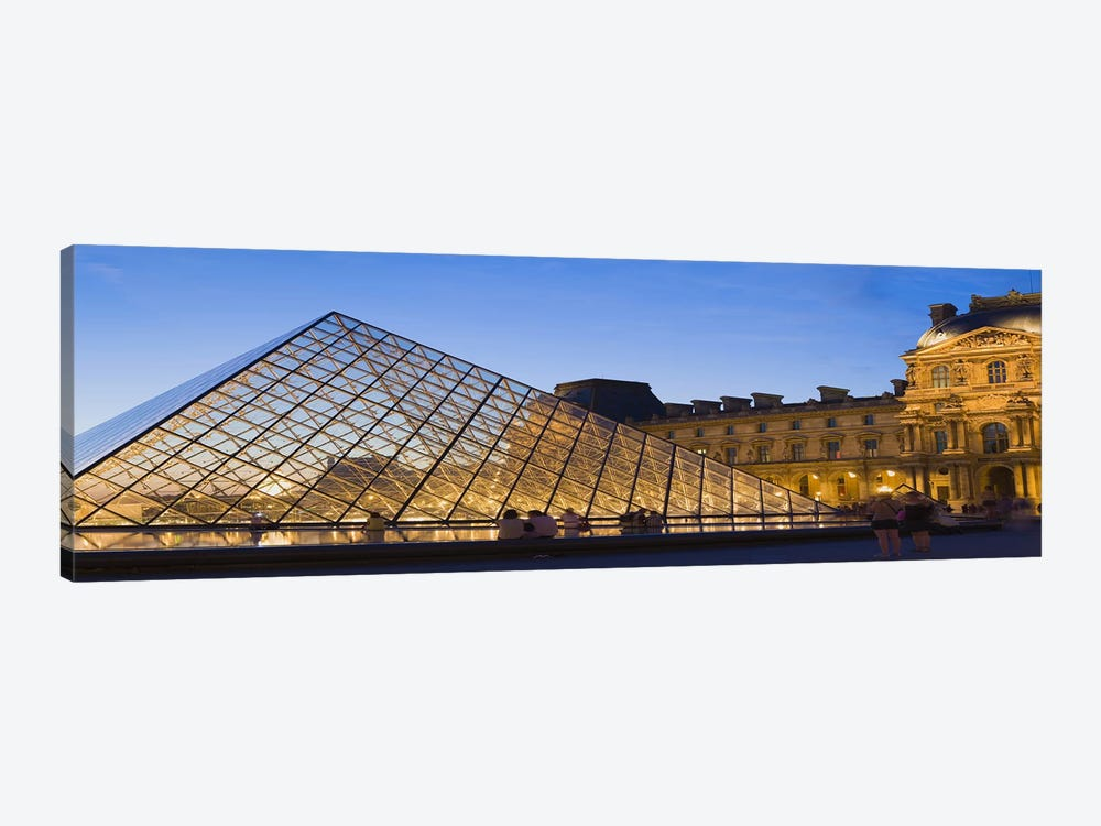 Pyramid in front of a museum, Louvre Pyramid, Musee Du Louvre, Paris, Ile-de-France, France by Panoramic Images 1-piece Art Print
