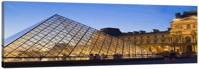 Pyramid in front of a museum, Louvre Pyramid, Musee Du Louvre, Paris, Ile-de-France, France Canvas Art Print
