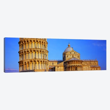 Tower with a cathedral, Pisa Cathedral, Leaning Tower Of Pisa, Piazza Dei Miracoli, Pisa, Tuscany, Italy Canvas Print #PIM8470} by Panoramic Images Canvas Wall Art