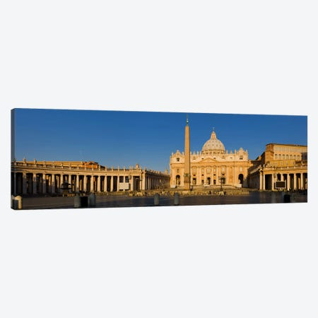 Sunlight falling on a basilica, St. Peter's Basilica, St. Peter's Square, Vatican city, Rome, Lazio, Italy Canvas Print #PIM8479} by Panoramic Images Canvas Artwork