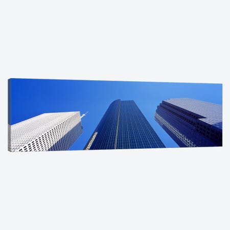 Low angle view of skyscrapers against blue sky, Houston, Texas, USA Canvas Print #PIM8491} by Panoramic Images Canvas Wall Art