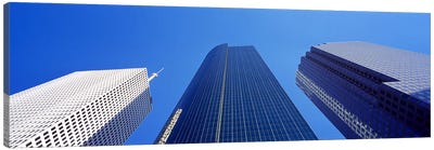 Low angle view of skyscrapers against blue sky, Houston, Texas, USA Canvas Print #PIM8491