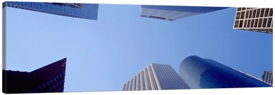 Low angle view of skyscrapers against blue sky, Houston, Texas, USA #2 Canvas Print #PIM8492