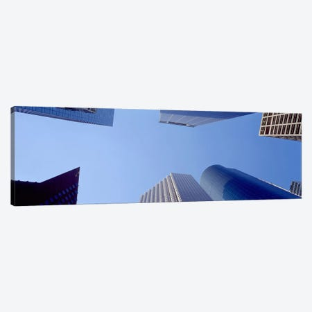 Low angle view of skyscrapers against blue sky, Houston, Texas, USA #2 Canvas Print #PIM8492} by Panoramic Images Canvas Art
