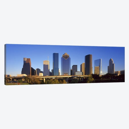 Skyscrapers against blue sky, Houston, Texas, USA Canvas Print #PIM8493} by Panoramic Images Canvas Art