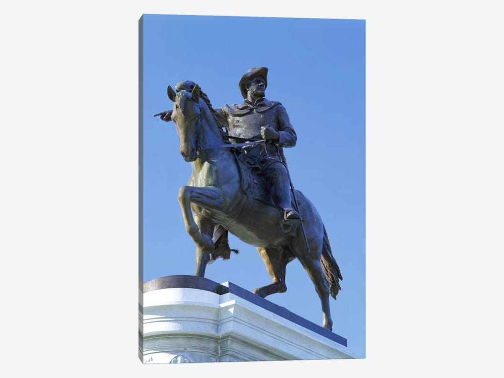 Statue of Sam Houston pointing towards San Jacinto battlefield against blue sky, Hermann Park, Houston, Texas, USA by Panoramic Images 1-piece Canvas Art Print