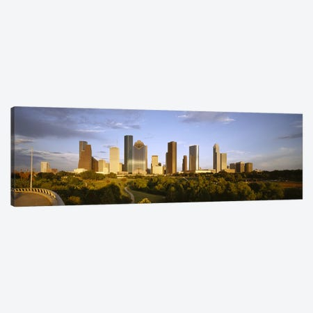 Skyscrapers against cloudy sky, Houston, Texas, USA Canvas Print #PIM8495} by Panoramic Images Canvas Art Print