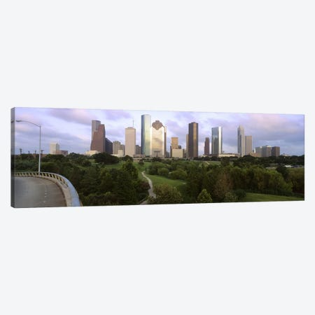 Skyscrapers against cloudy sky, Houston, Texas, USA #2 Canvas Print #PIM8496} by Panoramic Images Canvas Art Print