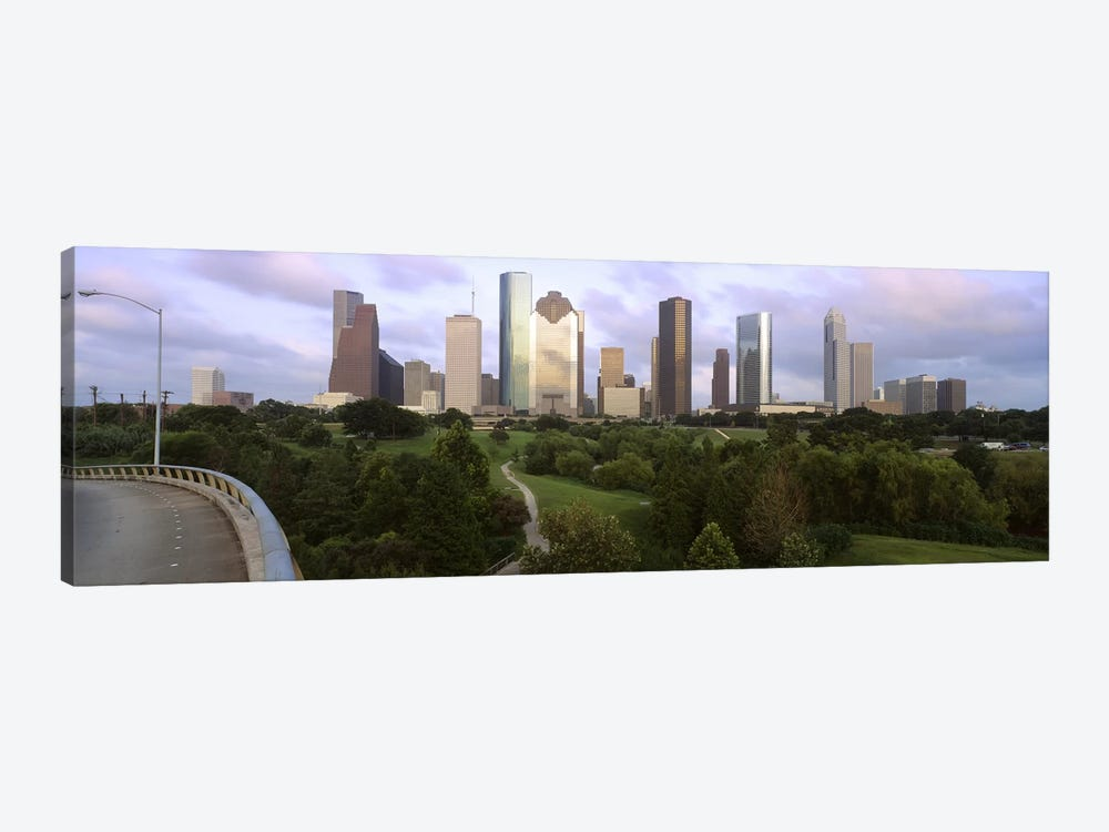 Skyscrapers against cloudy sky, Houston, Texas, USA #2 by Panoramic Images 1-piece Canvas Art Print