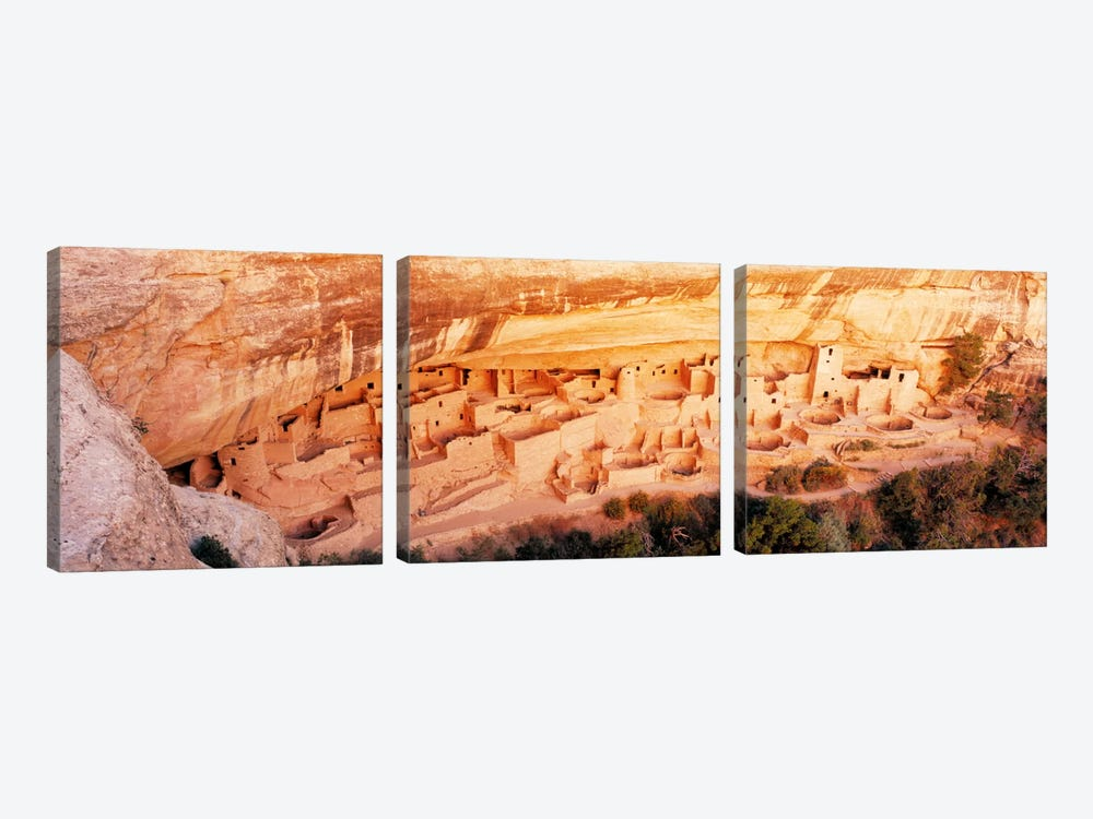 Cliff Palace, Mesa Verde National Park, Montezuma County, Colorado, USA by Panoramic Images 3-piece Canvas Art