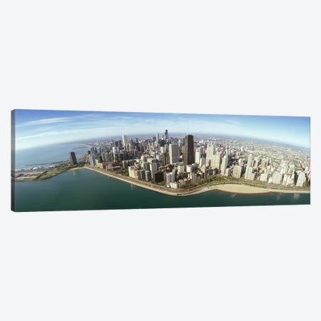 Aerial view of a city, Chicago, Cook County, Illinois, USA 2010 Canvas Print #PIM8500} by Panoramic Images Canvas Wall Art