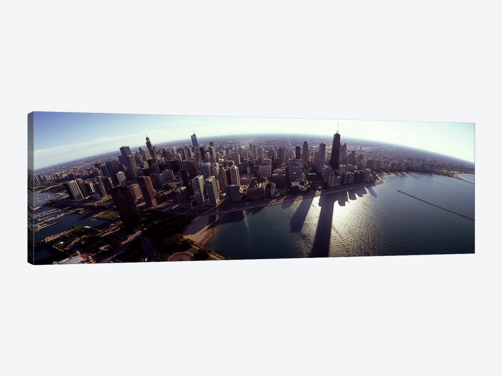 Aerial view of a city, Chicago, Cook County, Illinois, USA 2010 #2 by Panoramic Images 1-piece Canvas Art Print