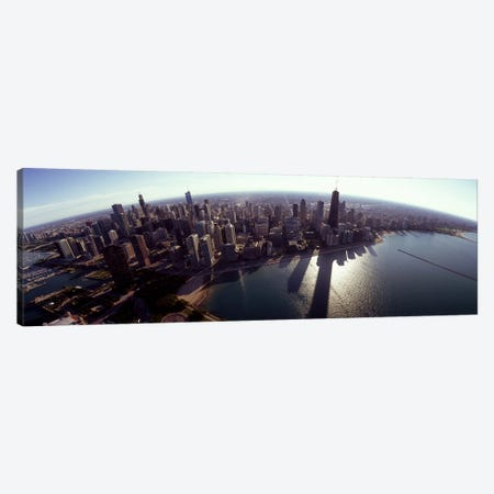 Aerial view of a city, Chicago, Cook County, Illinois, USA 2010 #2 Canvas Print #PIM8502} by Panoramic Images Canvas Artwork