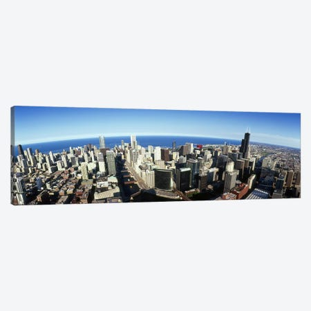 Aerial view of a city, Chicago, Cook County, Illinois, USA 2010 #3 Canvas Print #PIM8504} by Panoramic Images Canvas Art Print