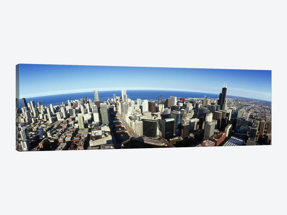 Aerial view of a city, Chicago, Cook County, Illinois, USA 2010 #3 by Panoramic Images 1-piece Canvas Art Print