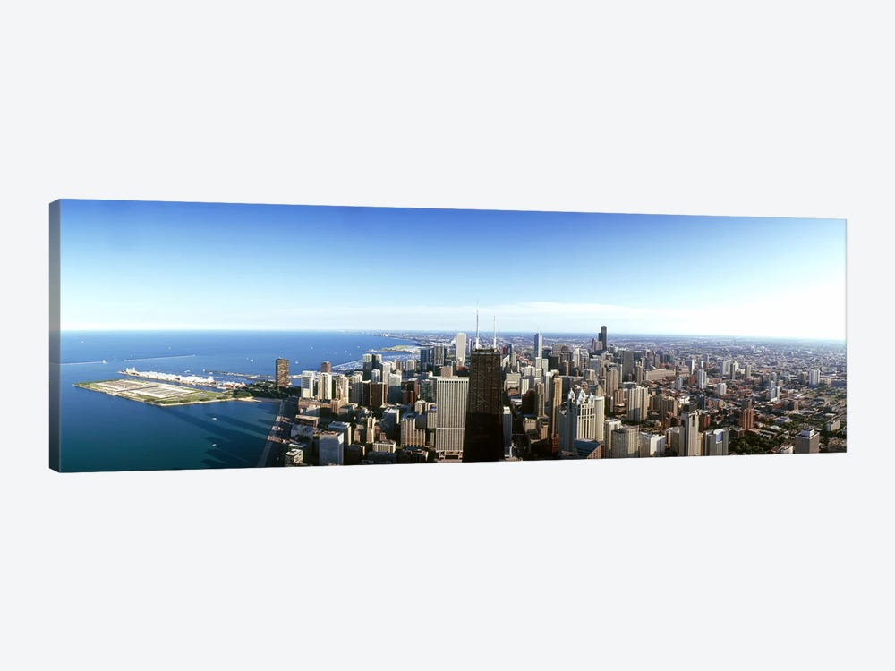 Aerial view of a city, Chicago, Cook County, Illinois, USA 2010 #4 by Panoramic Images 1-piece Canvas Art