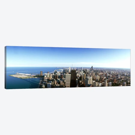 Aerial view of a city, Chicago, Cook County, Illinois, USA 2010 #4 Canvas Print #PIM8505} by Panoramic Images Art Print
