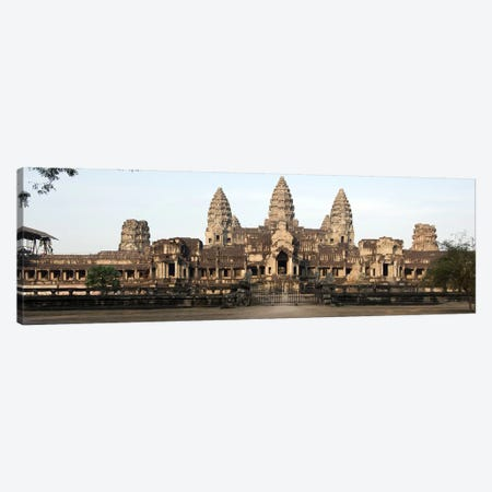 Facade of a temple, Angkor Wat, Angkor, Siem Reap, Cambodia Canvas Print #PIM8515} by Panoramic Images Canvas Art