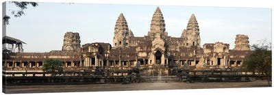 Facade of a temple, Angkor Wat, Angkor, Siem Reap, Cambodia by Panoramic Images Canvas Art