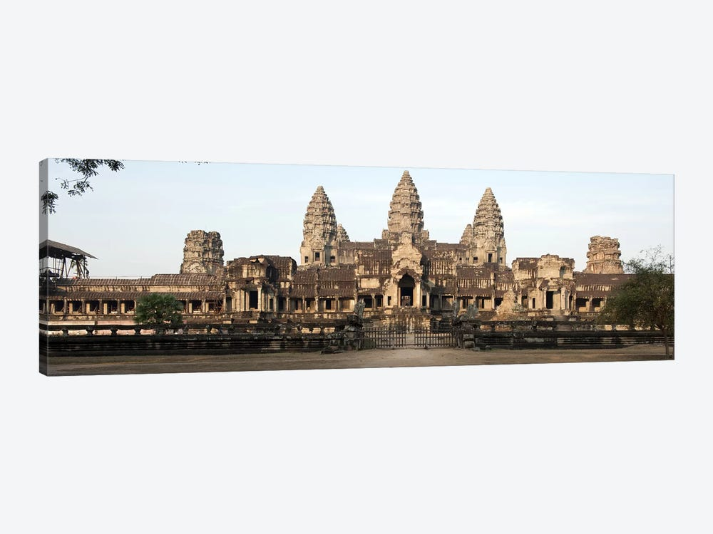 Facade of a temple, Angkor Wat, Angkor, Siem Reap, Cambodia by Panoramic Images 1-piece Art Print