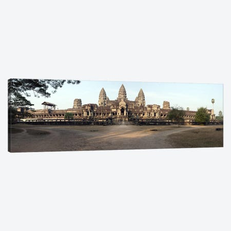 Facade of a temple, Angkor Wat, Angkor, Cambodia Canvas Print #PIM8520} by Panoramic Images Canvas Artwork