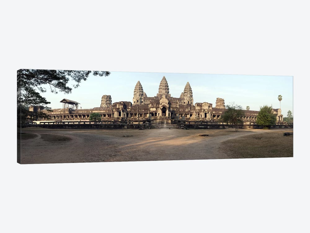 Facade of a temple, Angkor Wat, Angkor, Cambodia by Panoramic Images 1-piece Canvas Print