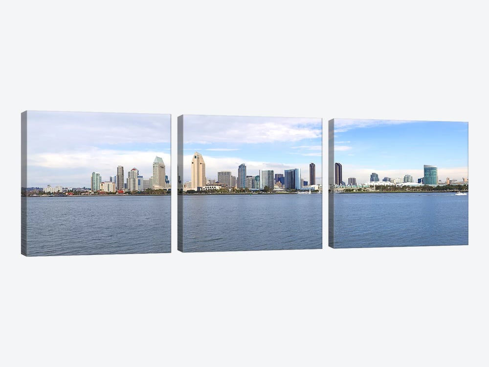 Buildings at the waterfront, San Diego, San Diego County, California, USA by Panoramic Images 3-piece Art Print