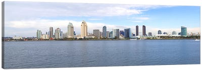 Buildings at the waterfront, San Diego, San Diego County, California, USA Canvas Art Print