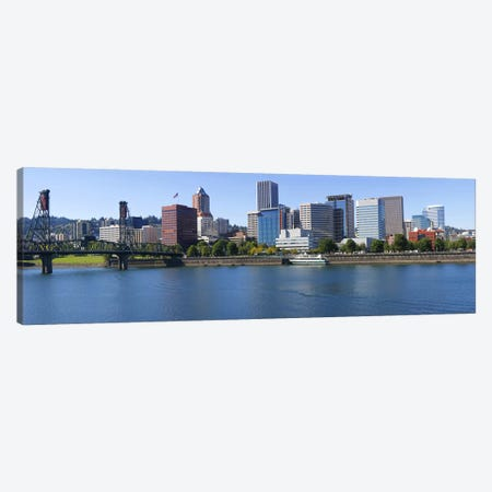 Bridge across a river, Willamette River, Portland, Oregon, USA Canvas Print #PIM8523} by Panoramic Images Canvas Art