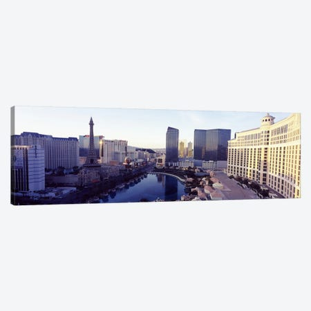 Hotels in a city, The Strip, Las Vegas, Nevada, USA 2010 Canvas Print #PIM8525} by Panoramic Images Canvas Art Print