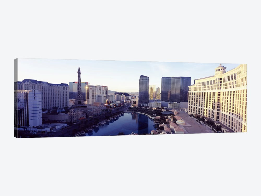 Hotels in a city, The Strip, Las Vegas, Nevada, USA 2010 by Panoramic Images 1-piece Canvas Wall Art
