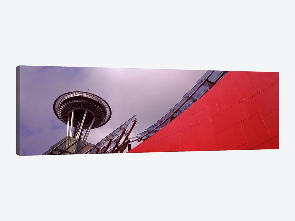 Low angle view of a tower, Space Needle, Seattle, King County, Washington State, USA by Panoramic Images 1-piece Canvas Print