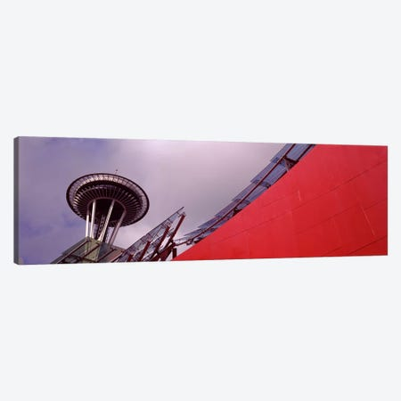 Low angle view of a tower, Space Needle, Seattle, King County, Washington State, USA Canvas Print #PIM8528} by Panoramic Images Canvas Artwork