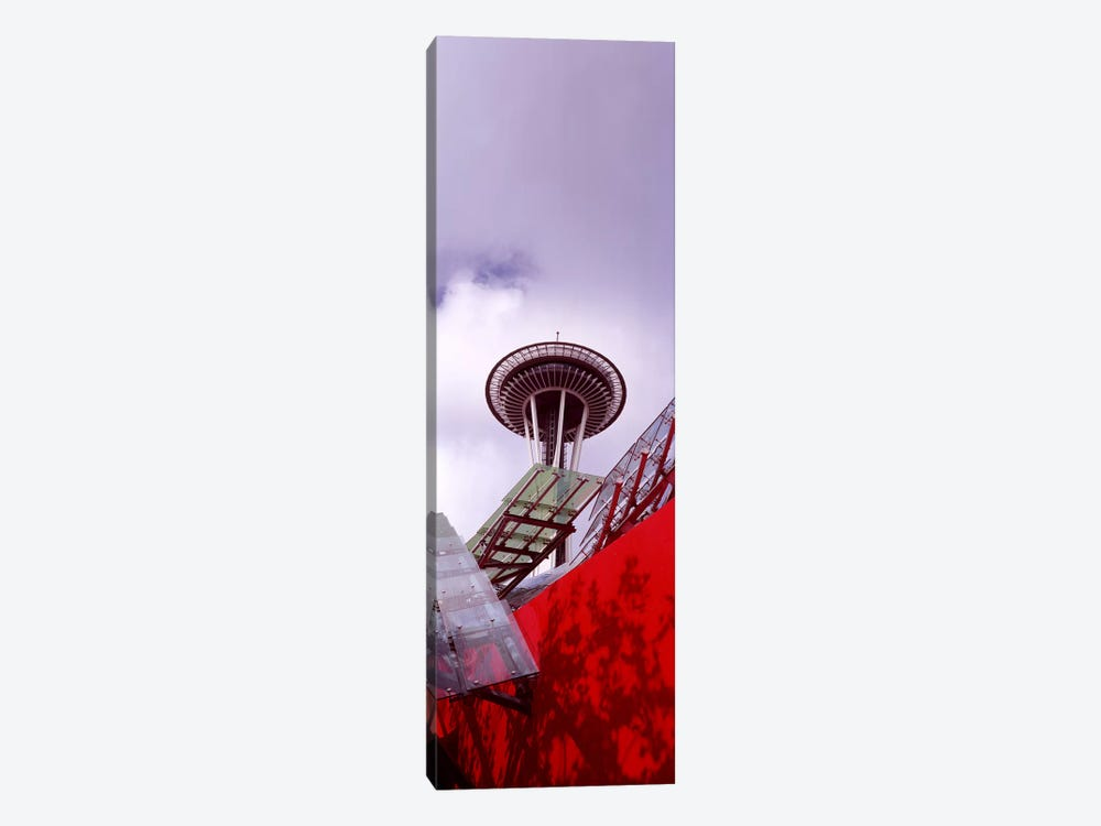 Low angle view of a tower, Space Needle, Seattle, King County, Washington State, USA #2 by Panoramic Images 1-piece Canvas Artwork