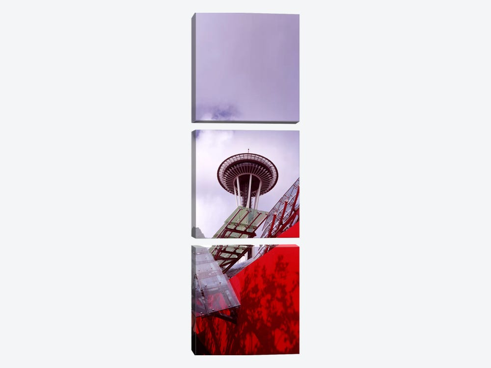 Low angle view of a tower, Space Needle, Seattle, King County, Washington State, USA #2 by Panoramic Images 3-piece Canvas Art