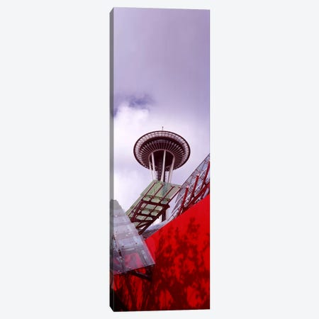 Low angle view of a tower, Space Needle, Seattle, King County, Washington State, USA #2 Canvas Print #PIM8529} by Panoramic Images Canvas Artwork